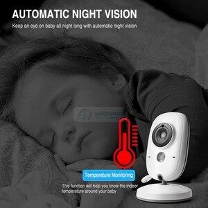 Image 5 - 3.2 אינץ 2.4 GHz אלחוטי וידאו צבע תינוק צג ברזולוציה גבוהה תינוק ביטחון מטפלת מצלמה ראיית לילה טמפרטורת ניטור