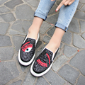 2017 New Summer Spring Women Lace Up Shoes Casual Slip on Loafers Flats Women Breathable Superstars Shoes Sapato Feminino