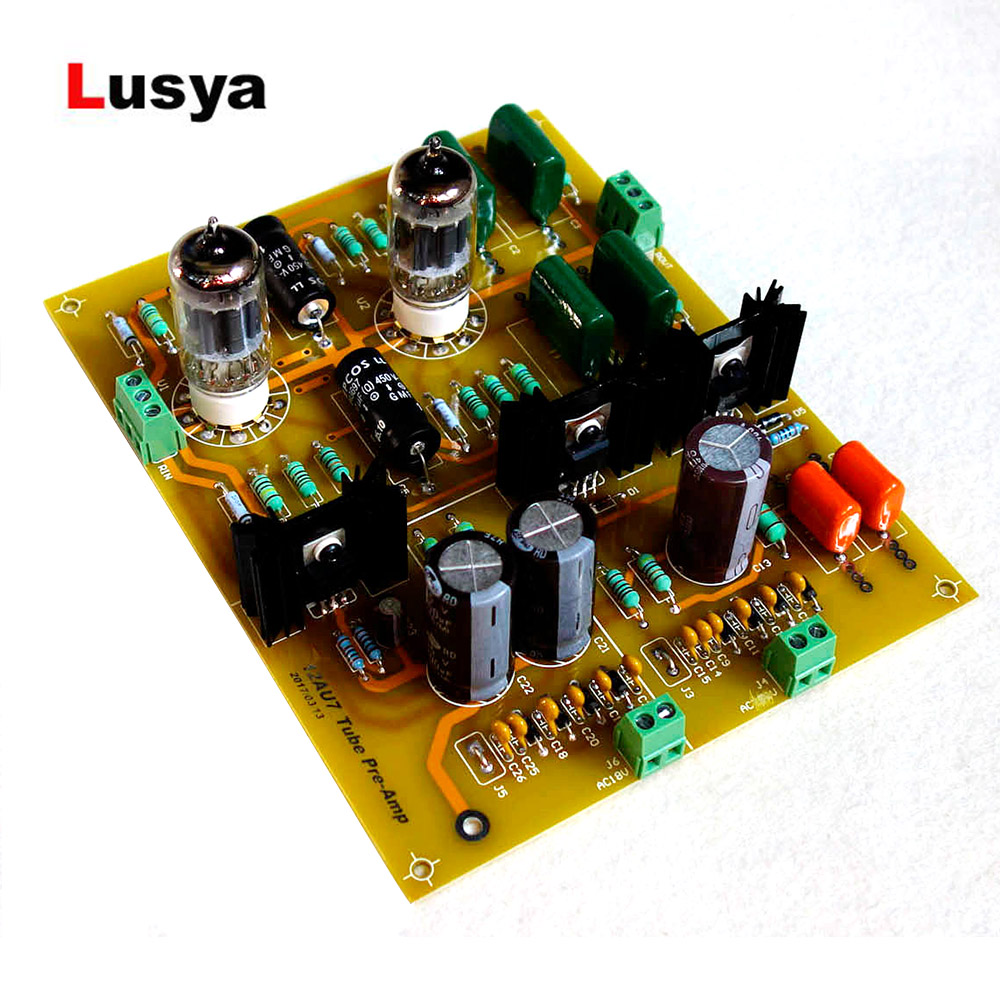 12au7+ Ecc82 Hifi Audio Tube Pre-amplifier Board Pcb Diy Kit Preamp Tube Preamplifier C5-007 Harmonious Colors