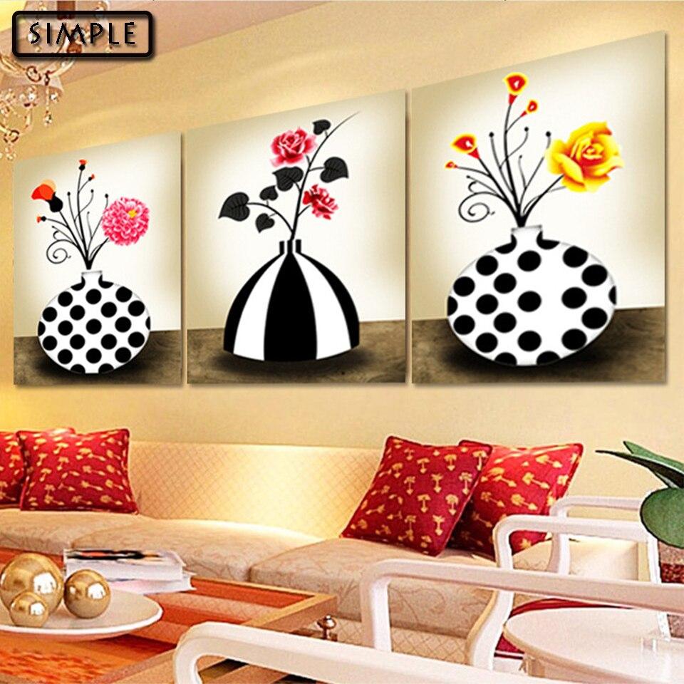 №Full DIY 5D Diamond Painting Cross Stitch Flowers Vase Diamond ...