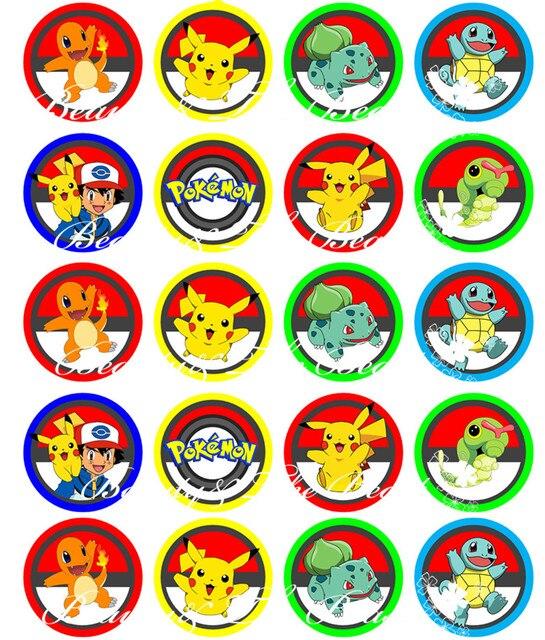 Favoloso Pokemon andare Adesivi, Pikachu Toppers Cupcake, Decorazioni della  TO96
