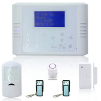 ЖК-дисплей с сенсорной клавиатурой GSM + PSTN двойная сетевая охранная сигнализация
