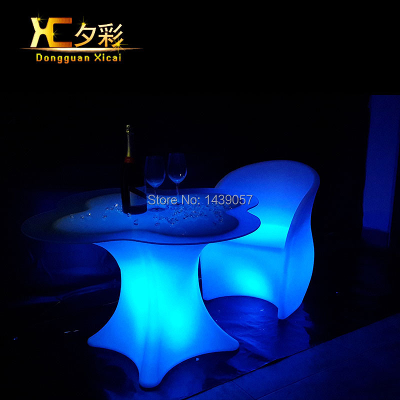 Led Bar Table Color Changing Wine Desk Coffee End Tables For Home Living Room Wedding Ceremony Party led luminous bar table plastic color changing coffee dining room garden drinking tables