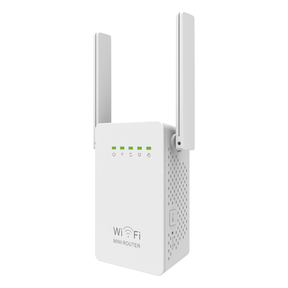 BRAND NEW N300 WIFI RANGE EXTENDER REPEATER 300Mpbs Wi-Fi NETWORK DUAL ANTENNAS EU/US/AU/UK PLUG IN FREE SHIPPING