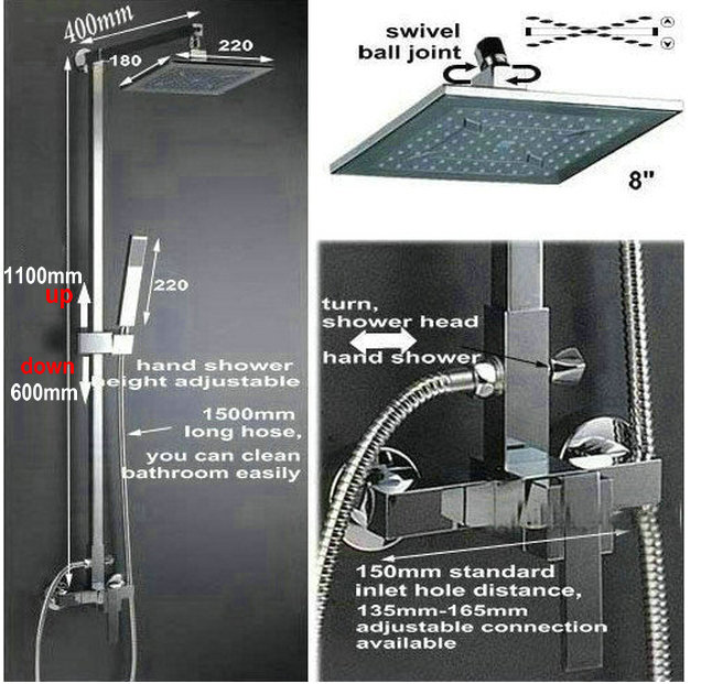 Best Wall Mounted Shower Set New Style Bathroom ABS Plastic Shower ...