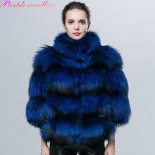 Подлинная Лисий Мех Новый 2017 Женская Мода Pieces Природа Silver Fox меховой Жилет Настоящее Краткое Стиль Фокс Шуба Натуральный Мех Куртка(China (Mainland))