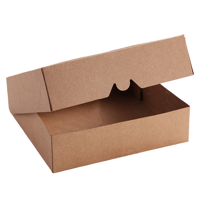 9*2.5inch Kraft Pie Box, Cookies Boxes,Bakery Package With PVC Windows 12pcs
