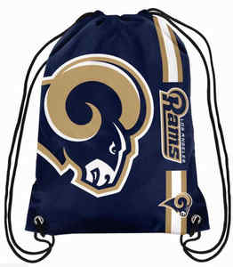 Los Angeles Rams Polyester Men Drawstring Backpack Buggy Bags Custom Image Digital Printing Pouch 35*45CM Sports Fan Flag