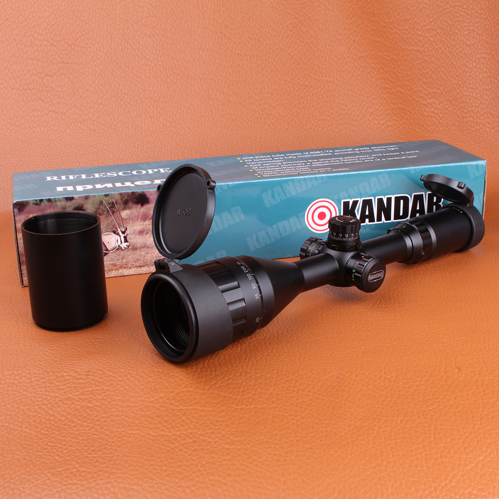 KANDAR 3-9X50AOE Tactical Riflescope Optical Sights RGB Mil-dot Wire Reticle Hunting Riflescope with Windage Elevation lock kandar 6 18x56q front tactical riflescope big objective with glass plate riflescope military equipment for hunting scopes
