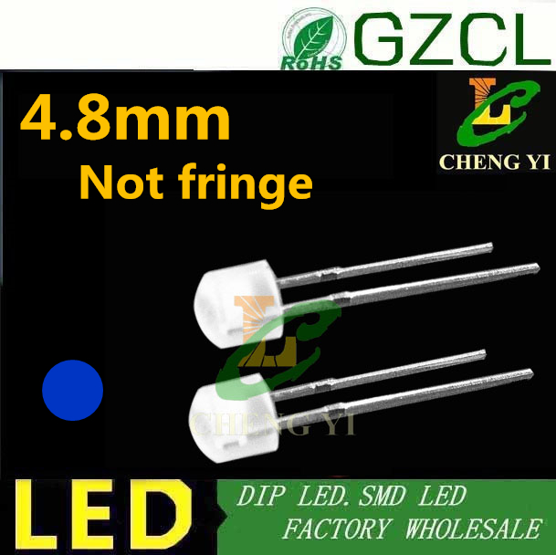 8mm Straw Hat Led: Good Quality Blue 4.8mm Straw Hat Led Diode White Diffused