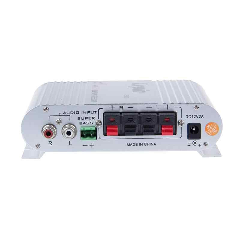 Автомобильный усилитель 12 V Мини Hi-Fi 2,1 автомобильный усилитель MP3 MP4 стерео аудио плеер Авто звуковой разъем Усилитель-сабвуфер