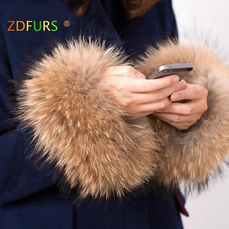 ZDFURS * winter women's coat cuff  fashion fur accessories Bracelet Wristband  real raccoon fur cuff  ZDC-163009