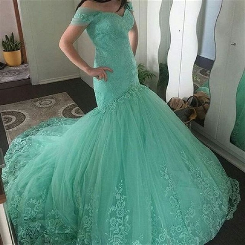 9c5ab8aab96a Sexy Mint Green Mermaid Prom Dresses 2017 Gorgeous Long Evening Dress Lace  Appliqued Formal Party Dress Vestido de festa on Aliexpress.com | Alibaba  Group