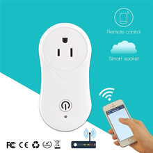 Smart Power Socket Plug WiFi Socket work with echo home Timer Switch Wall Plug Remote Control Home Automation  стоимость