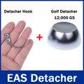 1 Pc 12, 000gs/12000GS Destacador De Golfe 1 Pc Detacheur Gancho Tag Chave Remover o Sistema EAS Segurança destacador