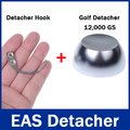 1Pc 12,000gs / 12000GS Golf Detacher 1Pc Detacher Hook Key Tag Remover EAS System The Security Detacher