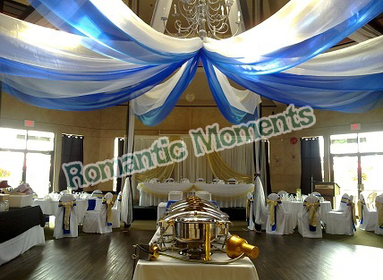 16 Pieces Banquet Mediterranean Style Ceiling Drape Canopy Drapery For Decoration Wedding Fabric 0 7m