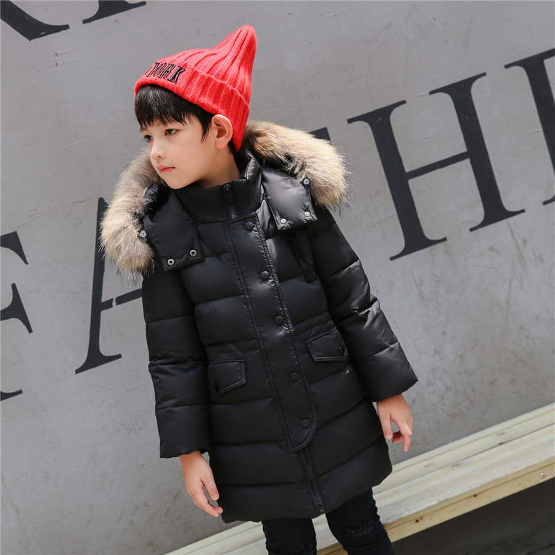 Winter Jacket For Boys Children Winter Coat Kids Parka Warm Thick Fur Collar Hooded Long Down Coats Teen 2 4 6 8 10 12 14 Years teen girl winter coat parka long down puffer hooded fur collar children winter jacket kids thick clothes for 6 8 10 12 14 years