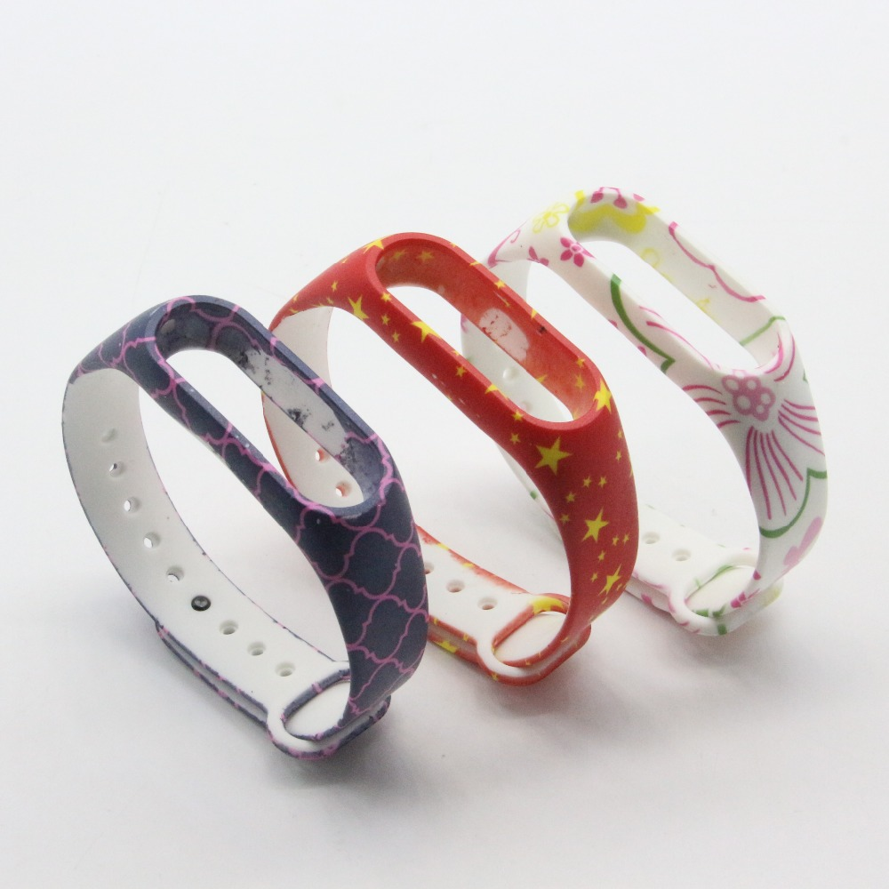 (XM2HS) 3pcs/lot T24 Replace Strap for Xiaomi Mi Band 2,Silicone Wristbands for Mi Band 2 Accessories