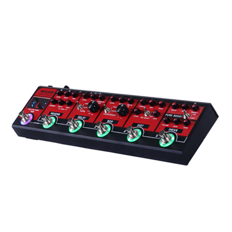 US $236 55 5% OFF MOOER Red Truck Combined Effect Pedal with Precision  Guitar Tuner Boost Overdrive Distortion Modulation Delay Reverb-in Guitar  Parts