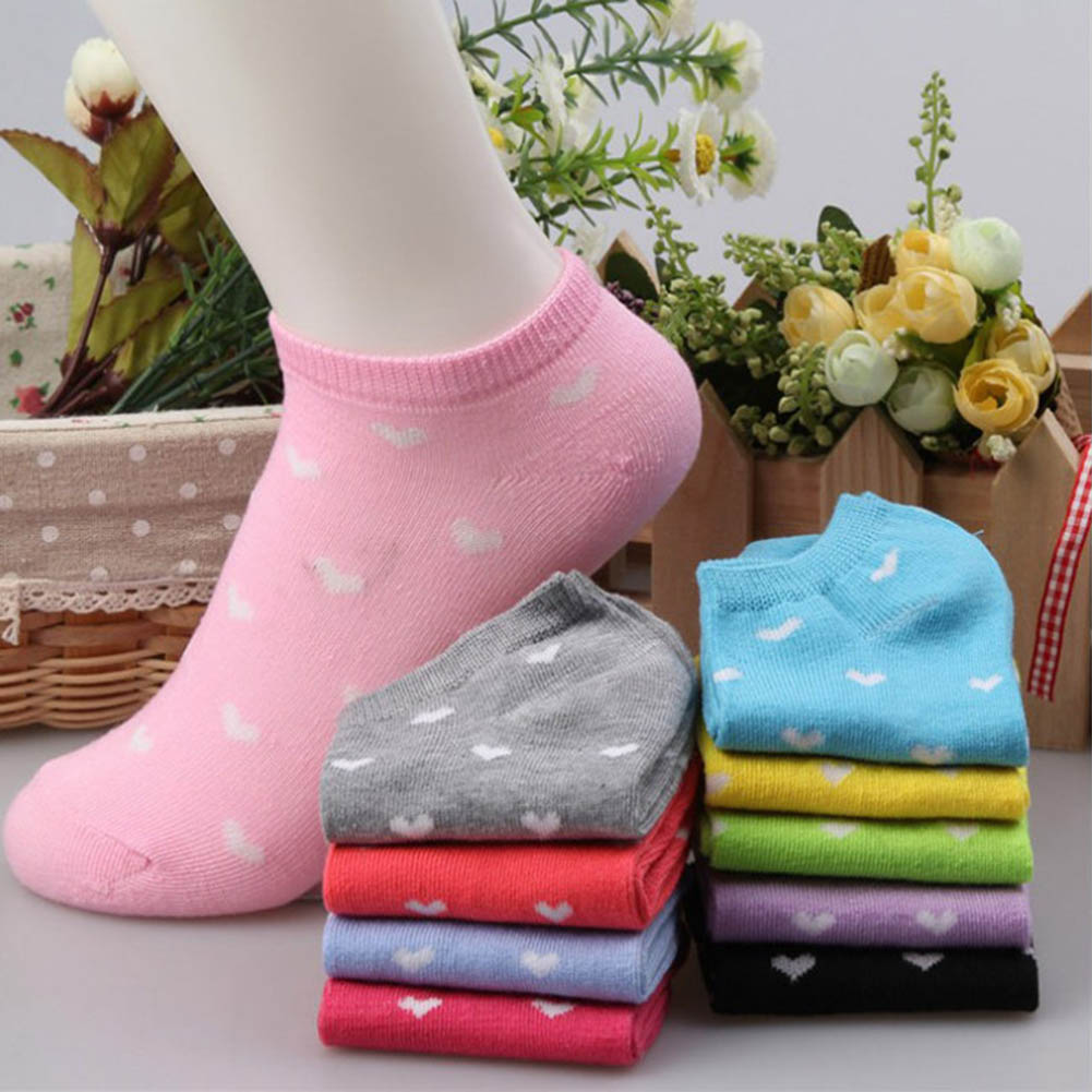1 Pair Color Random Warm Comfortable Cotton Blends Girl Womens Socks Ankle Low Socks Female Invisible Women Socks