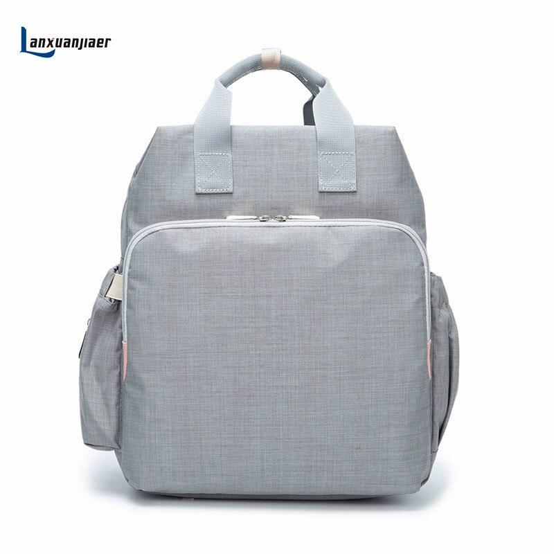 Lanxuanjiaer de maternité bébé sac à langer organisateur soins infirmiers maman sacs De Mode multi-fonctionnelle maman nappy sacs à dos poussette sacs