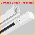 DHL 1 M Circuito de 3 Fases 4 Fios de Alumínio Pista Iluminação de Pista Sistema Ferroviário Para Refletor LED luz Praça 1 Metro Preto Branco