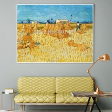Vincent Van Gogh Canvas Print Wheat Fields Landscape Poster Art Painting for Living Room Restaurant Wall Decor Artwork