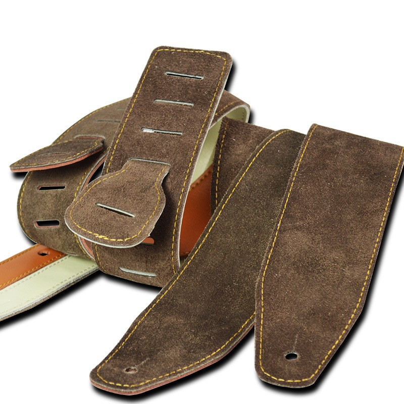 Leather shoulder pads electric guitar strap folk guitar strap belt bass thickening leather strap acoustic guitar strap bass belt warp knitting classical guitar strap acoustic electric guitar strap extreme well