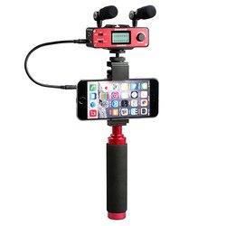 Saramonic SmartMixer Handheld Recording Stereo Microphone Audio Mixer for Smartphone voice changer recording studio vlog camera