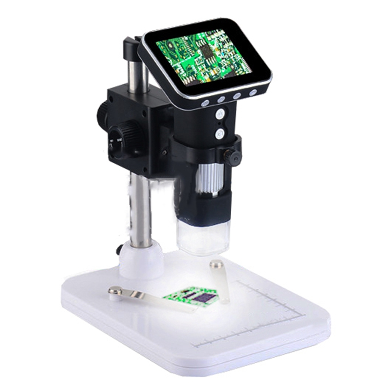 Portable 500X  USB Digital Mobile Microscope 3MP HD  with 3.5 inch LCD Screen USB and 8LED for PC and TF Card Recorder  цены
