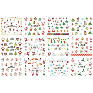 Image 2 - 48 sheets Nail Stickers Set Christmas Winter Snowflake Women Red White Slider Gift Manicure Foil For Nail Art Decal SAA1129 1176