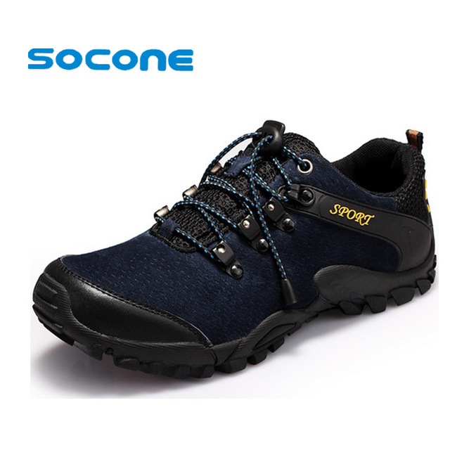 Men's Walking Shoes Suede Outdoor Hiking Shoes