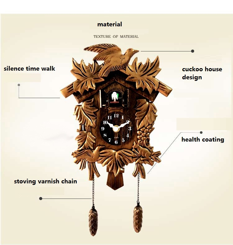 Κούκος ρολόι Καθιστικό Ρολόι τοίχου - Διακόσμηση σπιτιού - Φωτογραφία 3
