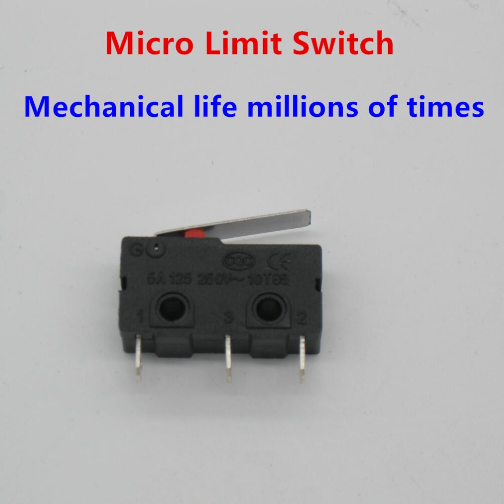 2A 2x Micro Switch Mini with r shaped lever Sub Microswitch simulated roller