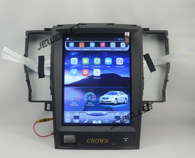 "10.4"" 12.8"" tesla style vertical screen android 6.0 Quad core Car stereo multimedia video player for Toyota Crown 2003-2008"