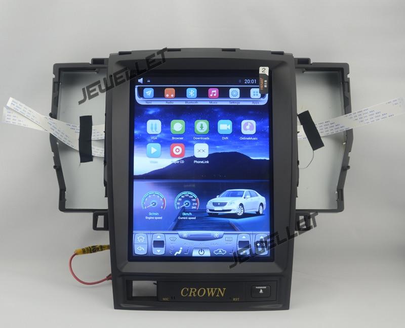 10.4 tesla style vertical écran android 4.4 Quad core De Voiture GPS radio Navigation pour Toyota Crown 2003-2008
