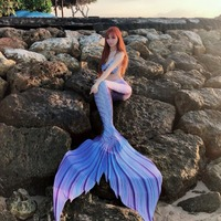Customized New Mermaid Tail for Swimming Swimsuit Tail and Fins Mermaid Tails With Monofin Adult Kids Swimmable Cosplay Costumes
