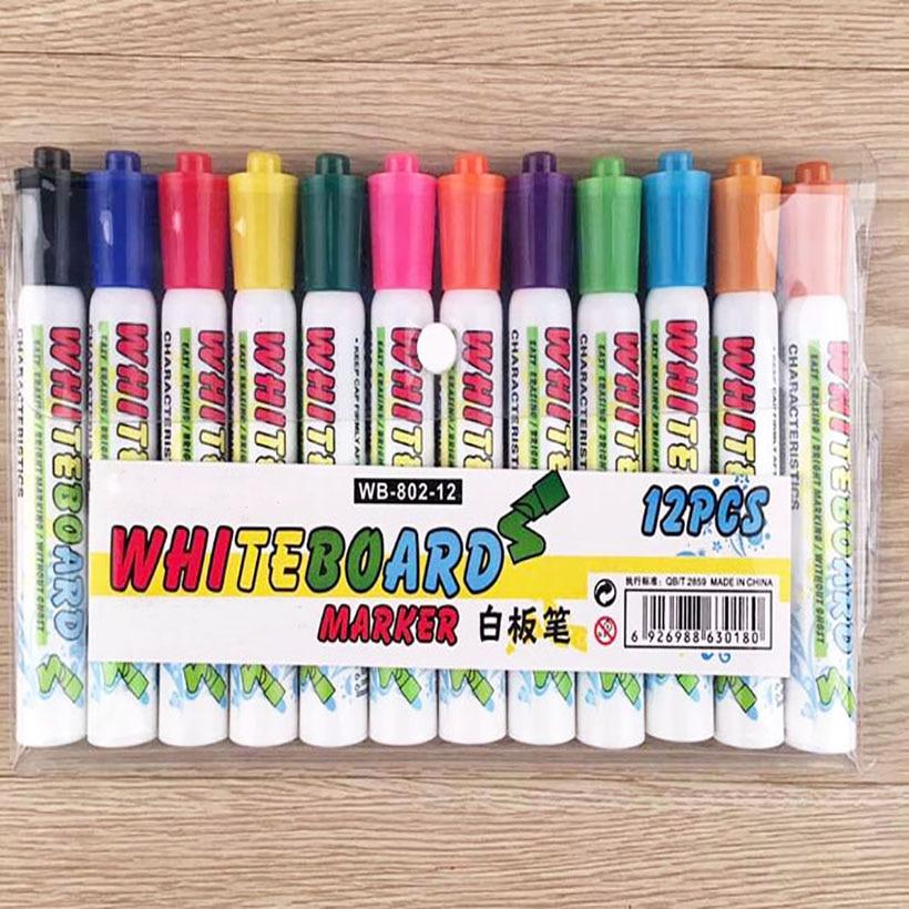 12 cores papelaria criativa para criancas 12 cor caneta quadro branco apagavel caneta cor do terno