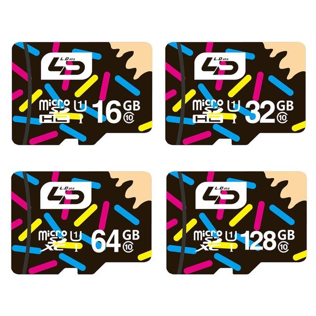 LD Micro SD карта 32Гб класс 10 16Гб/64Гб/128Гб класс 10 UHS-1 карта памяти 8Гб/4Гб класс 6 флеш-карта карта памятиf