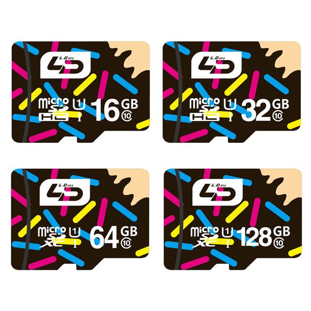 LD Micro SD Card 32GB Class 10 16GB/64GB/128GB Class10 UHS-1 8GB Class 6 Memory Card Flash Memory Microsd for Smartphone