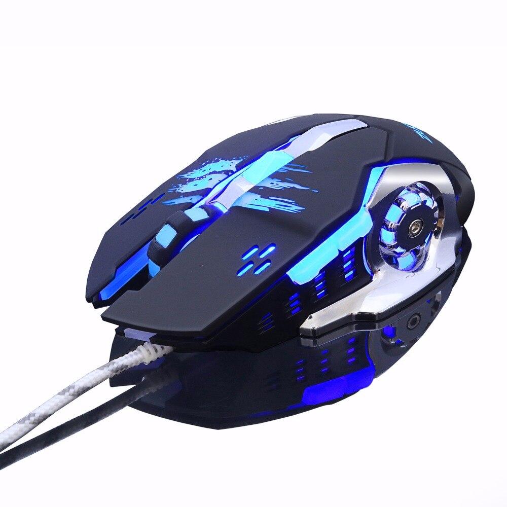 Gaming Mouse Mause Dpi Adjustable Computer Optical Led