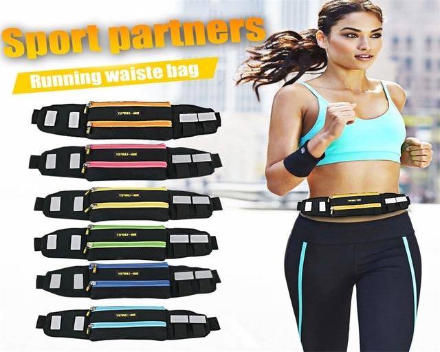 Yipinu New Outdoor Running Waist Bag Waterproof Mobile Phone Holder Jogging Belt Belly Bag Multifunction Sport Bags Unisex