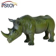 Rhinocéros jouets Figurines Modèle Animal Sauvage PVC Tôt Éducatifs en plastique Garçons Collections Jouet Figure Enfants Cadeau