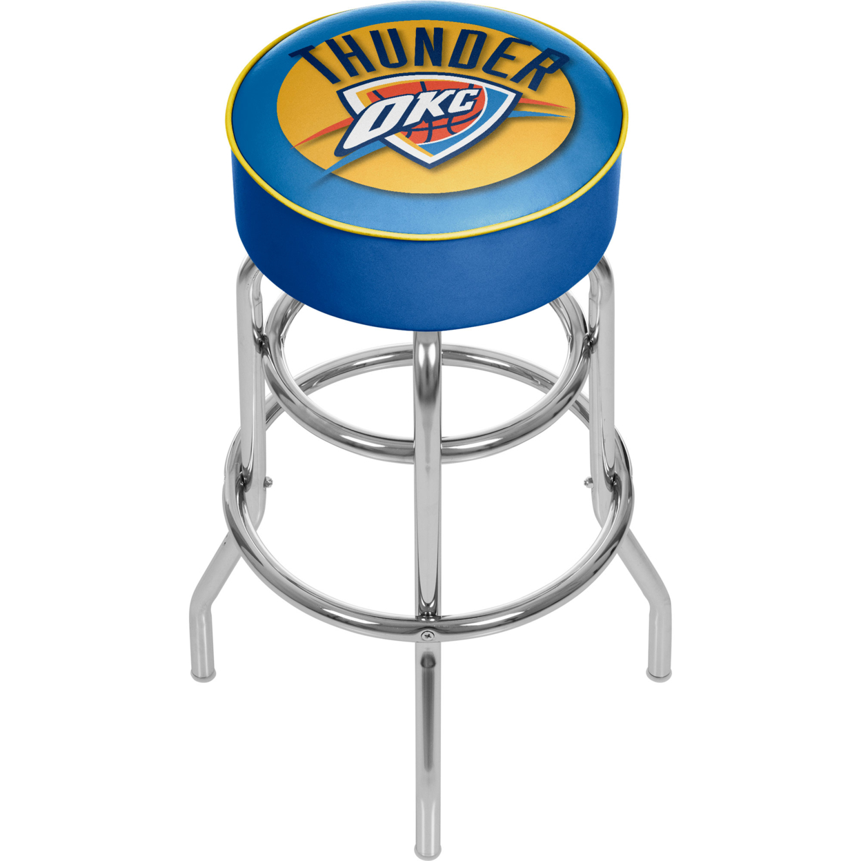Oklahoma City Thunder NBA Padded Swivel Bar Stool 30 Inches High фанатская атрибутика nike curry nba