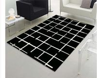 Coffee table bedroom carpet Black and white stripes Acrylic fibres Carpets for living room Rugs and carpets Rug