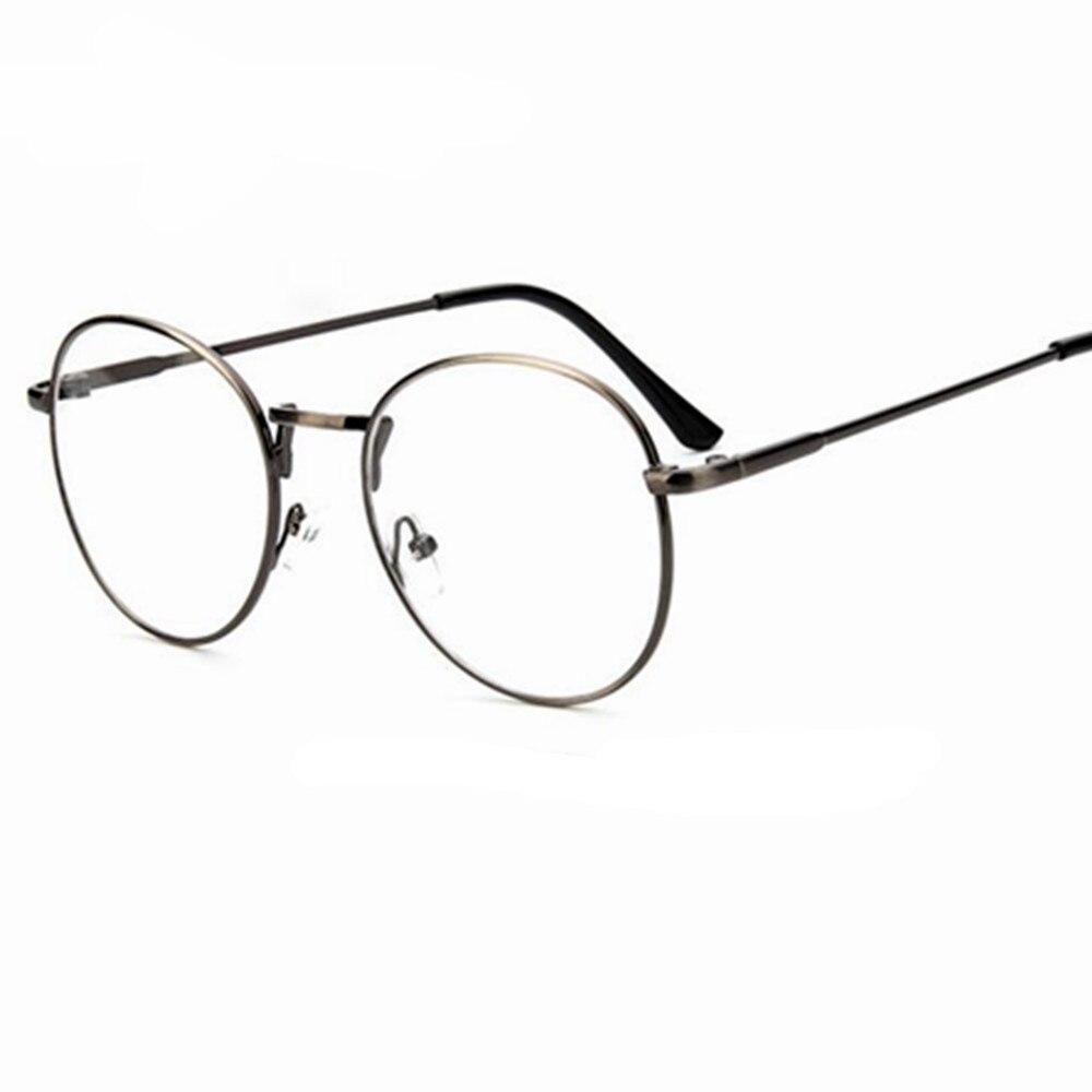Günstige kleine runde nerd brille klare linse unisex gold runde ...
