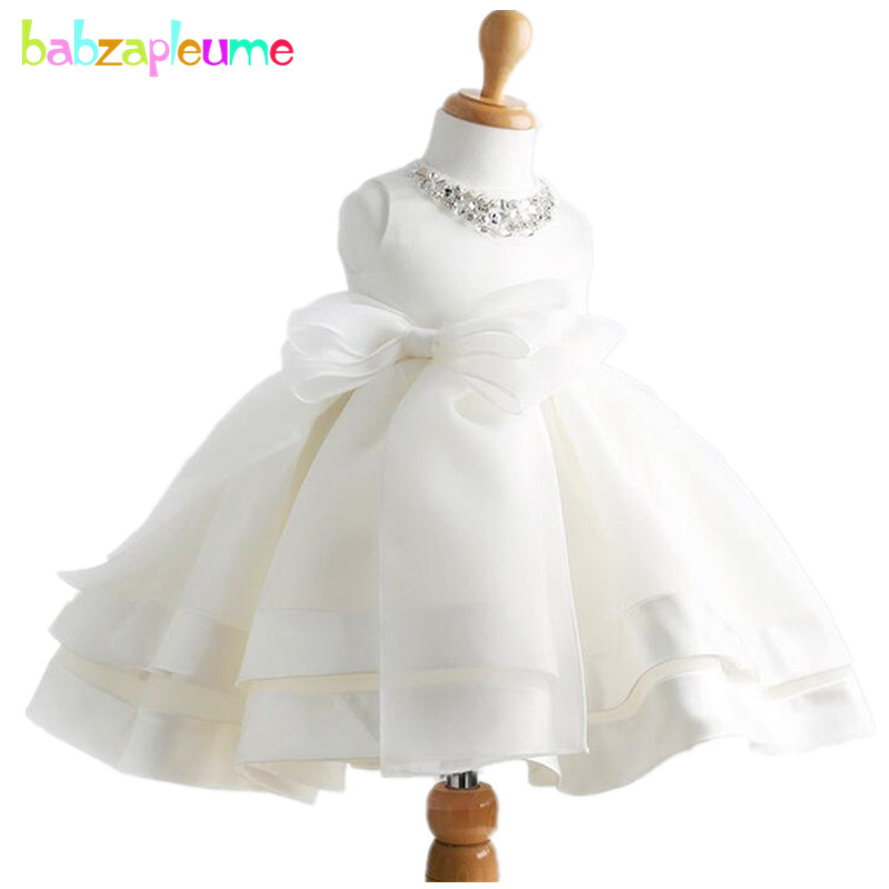 2017 New Baby Girls Dresses Fashion Mesh Princess White Dress Party Costume Infant Clothes Girls Birthday