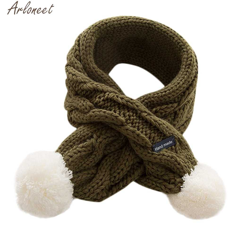 ARLONEET Children Kids Boys Girls Scarf Velvet Knitted snood cotton scarves snoods winter baby scarf Keep Warm Wraps Accessories