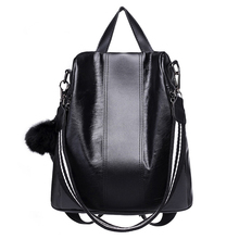 Women Fashion Backpack Vintage Quality PU Leather Mochila Female School Bags for Girls Anti theft Backpacks Ladies Black Bagpack все цены